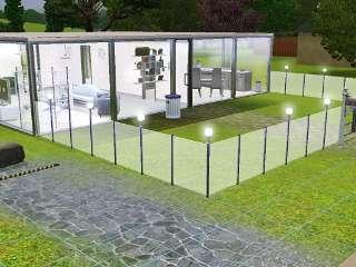 Sims 3 t l chargement maison glace et m tal for Exterieur sims 4