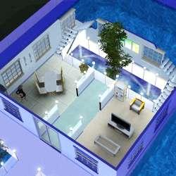 Sims 3 t l chargement maison bateau de l 39 espace for Maison sims 4 piscine